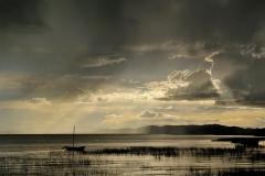 Bolivia - Lake Titicaca - boat - sunset 20