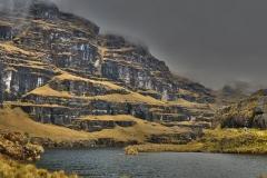 Bolivia - Yungacruz - trail - lake 55