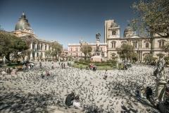 Bolivia - La Paz - Plaza Murillo - center 20