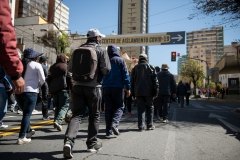 La Paz, Bolivia. 6th Nov 2019. Police officers were surprised by the size of a demonstration against Evo Morales. Radoslaw Czajkowski/ Alamy Live News
