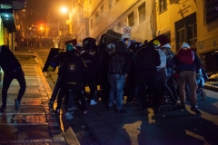 La Paz, Bolivia. 6th Nov 2019. With every passing day the clashes between protesters opposing Evo Morales and his supporters allied with the Police became more violent. Radoslaw Czajkowski/ Alamy Live News