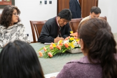 La Paz, Bolivia. 4th Nov 2019. Bolivian president Evo Morales seen in a meeting just hours after his helicopter had to perform an emergency landing. Radoslaw Czajkowski/ Alamy Live News