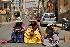 Bolivia - people - La Paz - blockade 17
