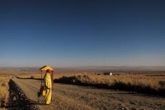 Bolivia - people - El Alto - ice-cream seller 38