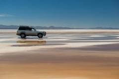 Bolivia - Salar de Uyuni - salt lake - water - car 9