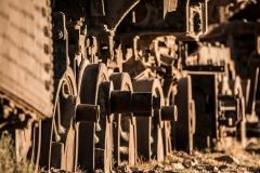 Bolivia - Uyuni - train cemetery - sunrise 2