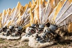 Bolivia - Lake Titicaca - morenada masks 19