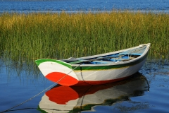 Bolivia - Lake Titicaca - fishing boat 29