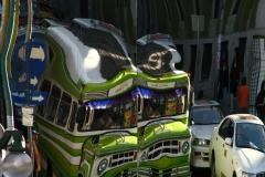 Bolivia - La Paz - micro bus - old - reflection 1